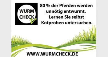 Wurmscheck - Pferdeentwurmung nötig?
