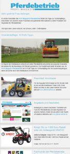 Newsletter Pferdebetrieb