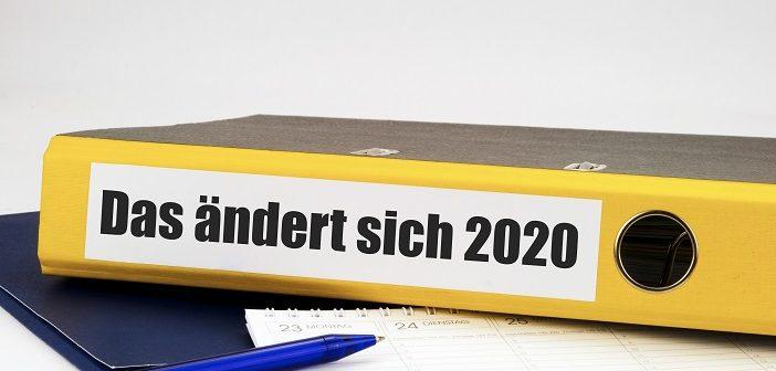 Das ändert sich 2020 Foto: VRD/adobe.stock.com