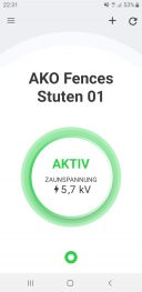 Screenshot: App FenceControl sorgt für Hütesicherheit