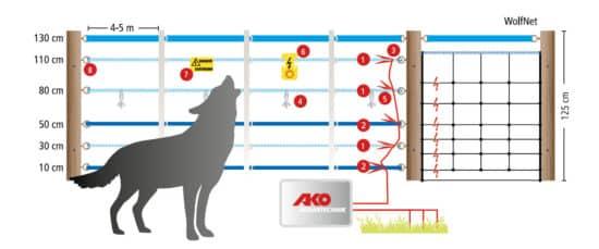 So sieht ein Zaun zur Wolfsabwehr aus.