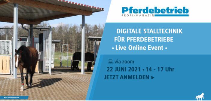 Live-Online-Event: Digitale Stalltechnik für Pferdebetriebe